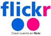 Crear cuenta en Flickr