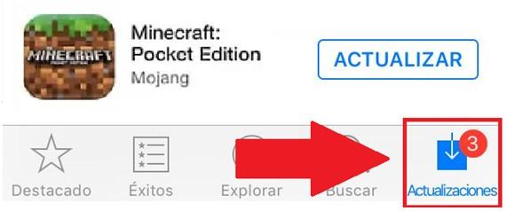 Actualizar Minecraft en iOS