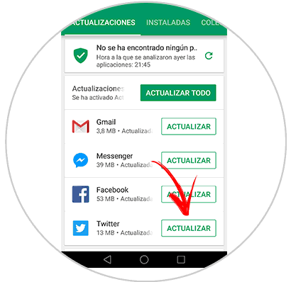 Actualiza Twitter en Android