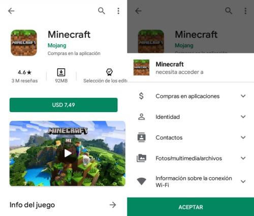 Descargar Minecraft en Android