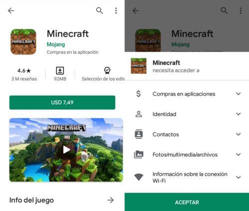 Descargar Minecraft en Android