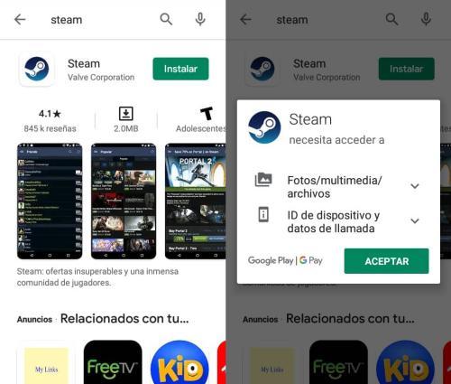 Instalar Steam en Android