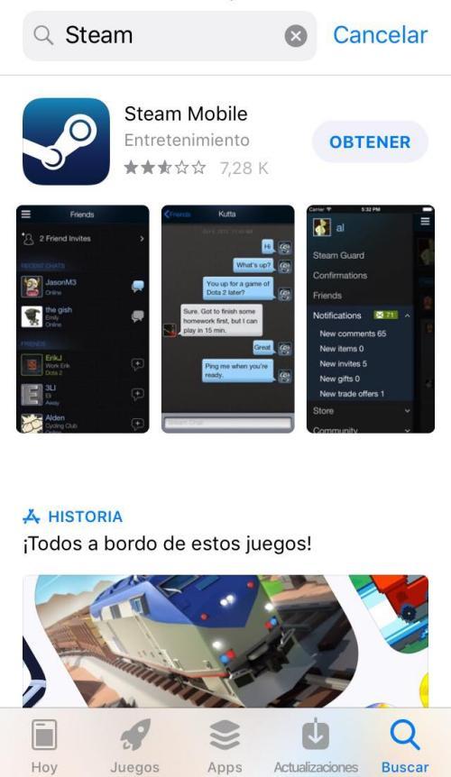Instalar Steam en iOS