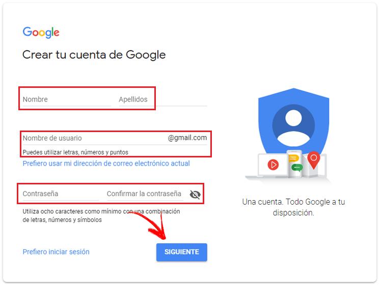 Crear una cuenta en Google Play Store gratis